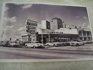 1962 Chrysler Plymouth Dealer Bldg An Lot New Cars 11 X 17 Photo Picture