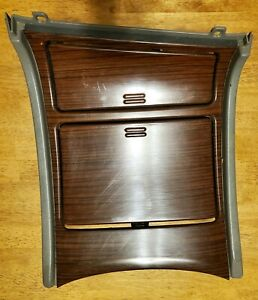 2002 Cadillac Escalade Center Console Wood Grain Cup Holder Oem Panel Trim Bezel