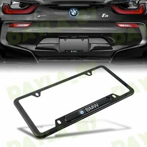 For Bmw 2018 2019 License Plate Frame Black Stainless Steel Usa Stander New 1pcs