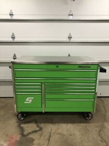 Snap On Tools Krl7022 Master Series Tool Box 54x29 Extreme Green Stainless Top