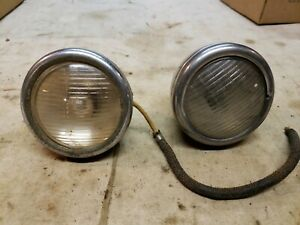 Original 1933 1934 Ford Cowl Lights Lamps 5