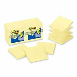 Post it Canary Yellow Pop up Note Refills Refill pst it 3x3 pup yw pack Of50