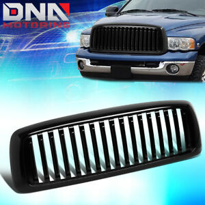 For 2002 2005 Dodge Ram 1500 2500 3500 Glossy Vertical Style Grille Grill Frame