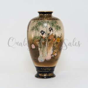 Antique Exceptional Fine Quality Meiji Japanese Satsuma Vase