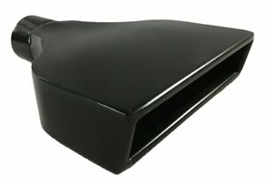 Exhaust Tip 6 00 X 2 25 Outlet 9 00 Long 2 50 Inlet Rolled Slant Rectangle Bl