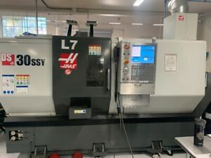 2016 Haas Ds 30ssy Live Static Tool Holder Package Barfeed Hil ref Cnc073