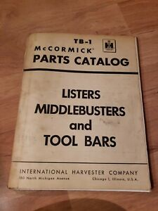 Service Parts Catalog International Harvester Listers Middlebusters And Tool Bar