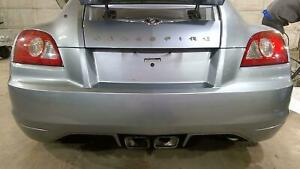 04 08 Chrysler Crossfire Rear Bumper Assembly Sapphire Silver Ps3