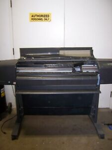 Hp Designjet 800ps Printer Plotter 42 C7780b As Is For Parts Loc Pl