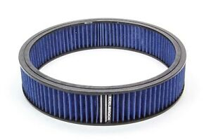 Edelbrock Air Filter Element Blue 14in X 3in P n 43667