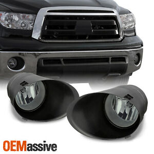 Fits Smoked 07 13 Toyota Tundra Bumper Fog Lights W covers switch Left right
