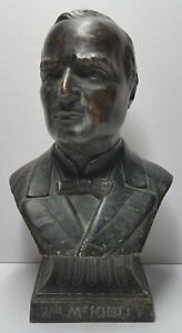Antique 19th C Small Copper Bust Of William Mckinley 1896 Presidential Election