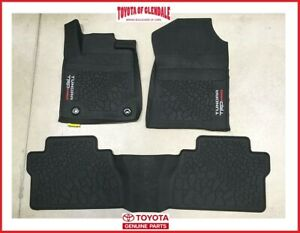 2014 2020 Toyota Tundra Trd Pro All Weather Floor Liners Rubber Floor Mats