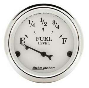 Auto Meter Old Tyme White 2 1 16in Fuel Gauge Ford P n 1605