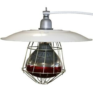 Industrial 12 Brooder Lamp Fixture Chicken Coop House Chick Warmer Heat Light