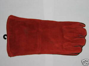 Nos New Large Leather Welding Gloves