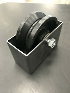 4 x 1 1 2 V groove 3 4 Steel Caster Wheel 500lbs Rolling Gate Greasable W box