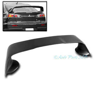 For 08 17 Mitsubishi Lancer Evo 10 Evolution X Sedan Rear Trunk Abs Spoiler Wing