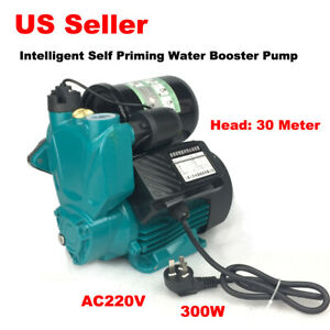 Self Priming Water Booster Pump Intelligent Control 220v 300w Copper Motor