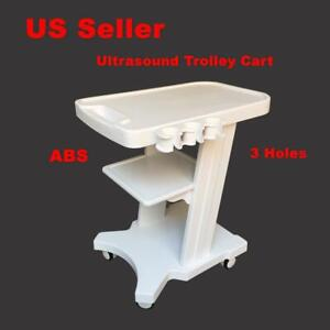Abs Plastic Mobile Ultrasound Trolley Cart Portable Ultrasonic Scanner Vehicle