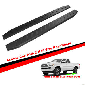 69 Raptor Running Boards For 05 19 Tacoma Access Cab Black Side Step Nerf Bars