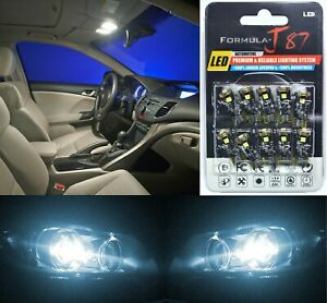 Canbus Error Led Light 194 White 6000k Ten Bulbs License Plate Replace Fit Oe