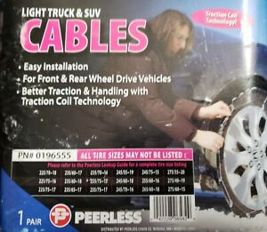 Peerless Light Truck suv Cable Tire Snow Chains Stock 0196555 Never Used