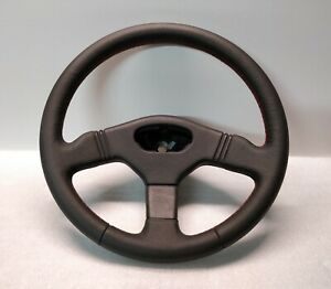 Peugeot Steering Wheel 106 Gti Rallye New Leather Red Stitch Rare