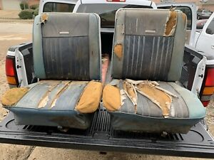 1966 1967 Ford Fairlane Ranchero Falcon Bucket Seats 66 67