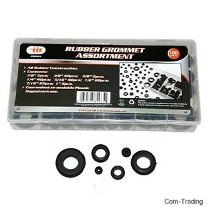 Iit 180 Pc Rubber Grommet Assortment Auto Firewall Holes Boat Rv Wires 82965