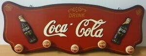 Extremely Rare! Coca Cola Wooden 3D Clothes Hanger Advertising Sign Bord