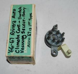 Nos 1966 1967 Buick Riviera Auto Air Conditioning Vacuum Rotary Switch 3008494