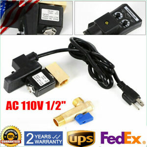 Ac 110v 1 2 Electronic Timed 2 Way Air Compressor Gas Tank Auto Drain Valve Top