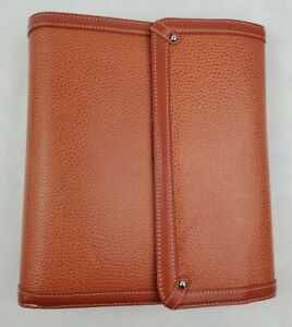Franklin Covey Genuine Leather Organizer Planner 60550 115 1 25 Ring Salmon