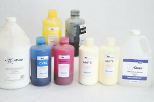 Lot Partial Containers M r I dot Ink I prep I clean White Ryonet Screenprint