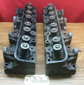 1969 Ford Fe Engine H type Complete Cylinder Heads C8ae h Date Code 9c31