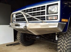 Chevy K5 Blazer 1981 1991 Front Winch Bumper Brush Guard Included Usa