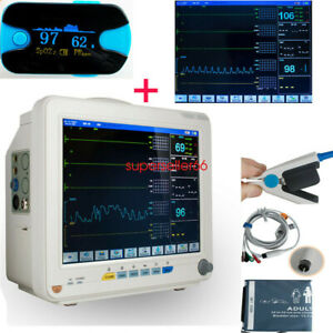 Ce Color 12 Large Screen 6 Parameter Cardiac Heart Vital Signs Patient Monitor