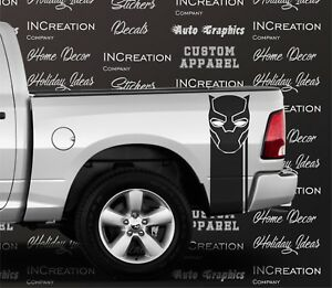2 Black Panther Truck Decal Racing Stripes Rear Side Bed Graphics Decals Sticker
