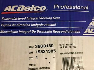 New In Box Gm 19321385 Acdelco Professional Gm Oem Reman Steering Gear 36g0130