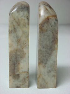 Pair Of Old Chinese Shoushan Soapstone Seals