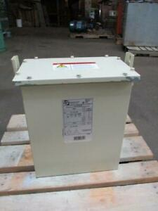 Hammond 6kva Power Transformer 480v High To 240v Low 3 Phase With Taps Used