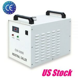 Cw 3000dg Industrial Water Chiller For Laser Engraver With Co2 Glass Tube