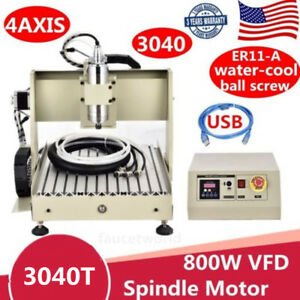 Usb 800w 4axis 3040 Engraver Router Engraving Machine Metal Woodworking Cutter