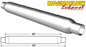 Magnaflow Perf Exhaust Glass Pack Muffler 2 5in Aluminized Large P N 18146