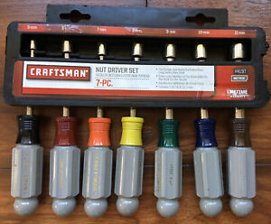 Craftsman 7 Pc Metric Mm Nut Driver Set New In Package