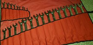 Snap On 24 Pc 12 Point Sae Standard Comb Wrench Set 1 4 1 5 8 New