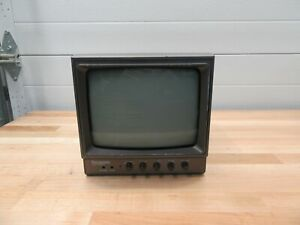 Panasonic Tr 930u Video Monitor Bnc Monochrome Cctv Crt 9 Camera View Screen