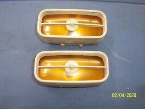 1971 72 Ford Mustang Original Mach 1 Front Grille Sport Lamps 1 Pr