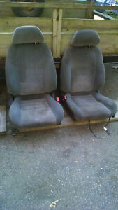 1993 Toyota Celica Convertible Front And Rear Seat Package Grey Cloth Original